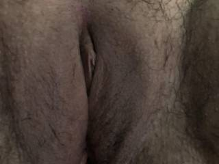 Carved out the business hole, clit, and mature fleshy, well well worn by many dozens over the years lips and cunt, but left the rest of the  huge spread of hairy, hungry, musky, real woman crotch. If you see her, know what's under there. Always hungry