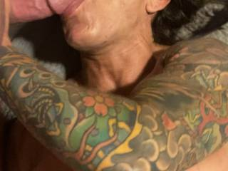 Just sucking some thick cock