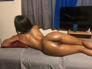 a beautiful girl feeling good on the massage table