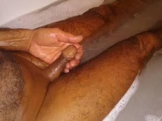 Bath time,my hard little dick for boredtodeah1122