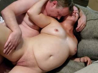 Her hubby was away for the night and she wanted to go over to one of my friend\'s house to fuck him. She gets what she wants.