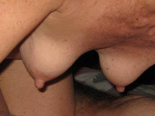 sucking cock makes her nipples very hard