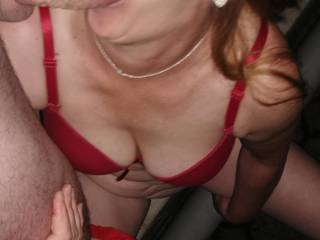 The heat in the house made me out onto the terrace and since it was dark and I was horny, I had to fuck her outside with pleasure