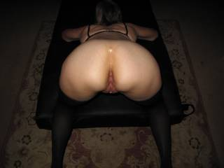 I never said a word... after taking some birthday pics, she lifted her ass, arched her back and insisted that bury my cock in her ass... and don\'t pull is out until you unload...