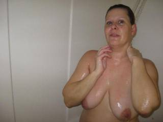 Wife washing after sex with a buddy and i