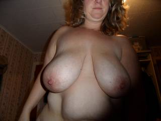 her huge 42ddd tits while riding my cock