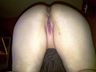 wife bent over displaying her wet pussy