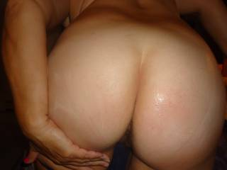 wifes hot ass...tribute her..cover her in your cum
