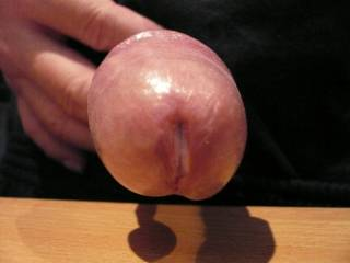 Oh yes, thats nice big cock head, I love sucking on the head of a nice cock.  Yours I'd suck.  K