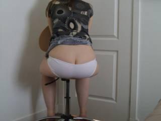 Beautiful ass in white panties