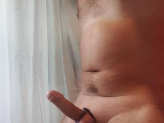 Kinky tied balls and cock. Maybe you'd like to lick and suck on them?