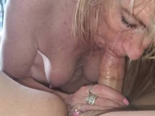 She sucked my cock, and let my cum in her mouth