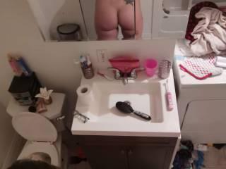 Ass shot before showrr