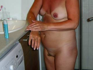 I do love her small tits and she has perfect large nipples mmm very tasty pic