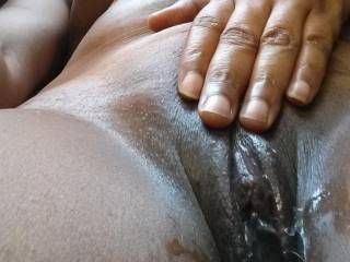 Looking at your very inviting pussy makes my cock crazy hard! Would love to feel that hot and wet pussy wrap around my hard cock! Mmmm, i would pound you hard and deep until you cum many times!