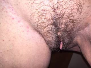 What a hot trimmed hairy pussy