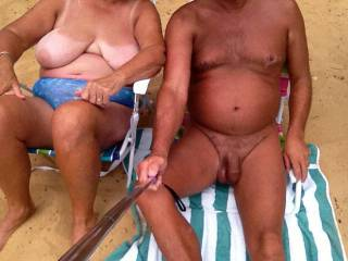 You are a very sexy couple. I love all of the tans and tan lines. Thanks.