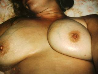 I would love to help you out by covering those beauties in some nice hot cum