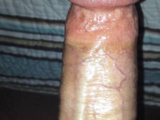 My fat lubed up cock is ready for a soaking wet pussy(;