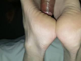 g f s very sexy bare rough heels closeup foot job