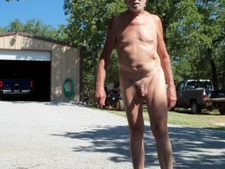 Enjoying the sun, nude life is great