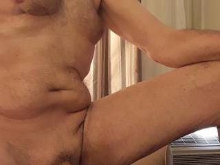In my hotel room in Montreal. Do you like to be naked when you are in a hotel room?