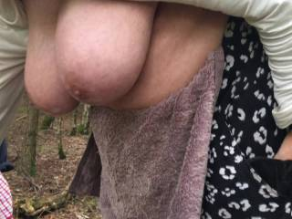 3 of 4 – big oiled tits hanging in woodland, all made on the same day – length 34 seconds