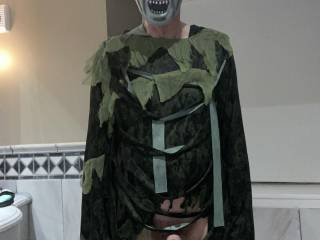 Do you think that my erect cock is less obvious than my flaccid one, in this outfit?