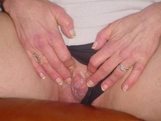 opening my pussy for ya; and heres my hard little clit