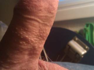 I like your balls. I'd like to suck on them while you jerk your cock off. I want to see a picture of your cock ans balls totally shaved.