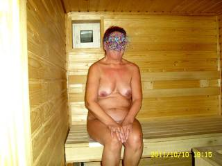 her mature body is wonderful, her breasts are firm, her nipples divine hhmmm very sexy