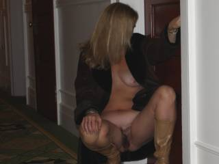 Honey, all I can say is 50 is just a number. I am 50 myself and I am in better shape now then never. You are one very sexy lady .I am glad hubby convinced you to post. Keep them coming and I hope to get to know you both better.