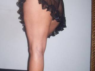 A lovely pic, your legs and your butt look delicious - nice in heels too - Us xx