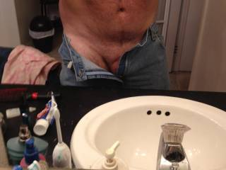 Playing in the miror while getting dressed after shower, anyone wanna join me for
