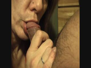 I blew a huge load in her mouth that she almost couldn\'t handle it. But she managed to choke it all down while gagging. I Love a girl who really loves to swallow cum.