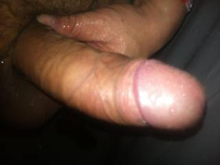 Is that yummy pre cum I see........can I please have a lick sweetheart???
