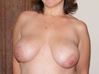 Hubby requested that I bare my natural 36DD\'s for your viewing pleasure.