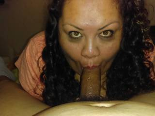 sexy chubby sucking my cock