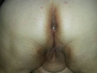 Spreading the gospel(or at the least her ass cheeks) for a glorious anal cream pie.