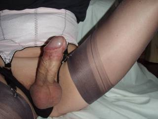 Sexy nylons with my cock