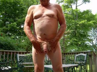 Don\'t you just love hanging out naked outside?