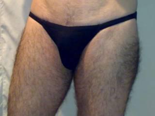 Me in tiny black panties
