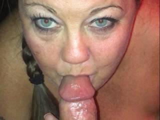 Madison sucking my cock