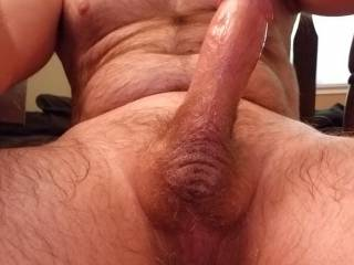 A nice pic and view of my rock hard cock