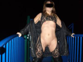 I always aim to please, so when CameltoeJoe76 requested some new pics, i had to CUM thru. These are from a photo shoot we did around town. I wore this outfit, with only a long sweater over it. We hit the playground and a few parking lots. Enjoy