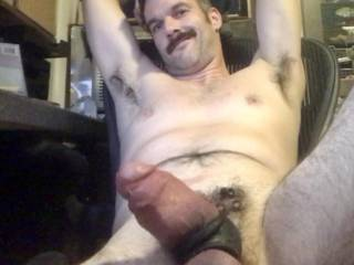 My fat hairy beer can cock