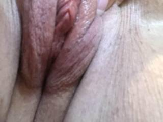 My older side pussy. Love how meaty her lips are