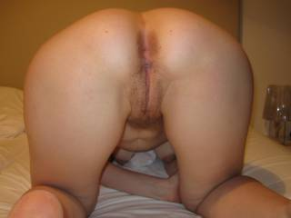 Absolutely perfect! I love that I can see both your holes AND your tits showing through from behind. You make my cock so hard and I am mastubating for you right now mmmmmm yummy gonna cum all over your pic!