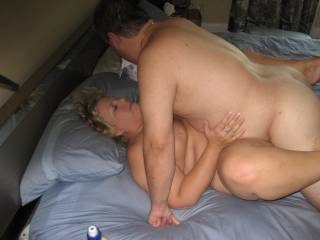 Cumming inside my married girlfriend while her hubby watches and takes pictures.