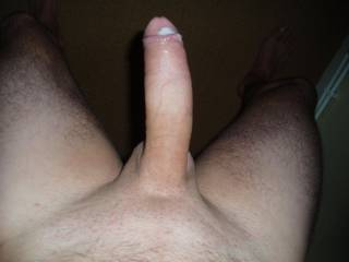 that cock is three times the size of mine.  jeez. i would like to suck it. it is just pretty and huge. i am turned on looking at it. thanks for showing that nice big cock. i will now stroke my little dick.